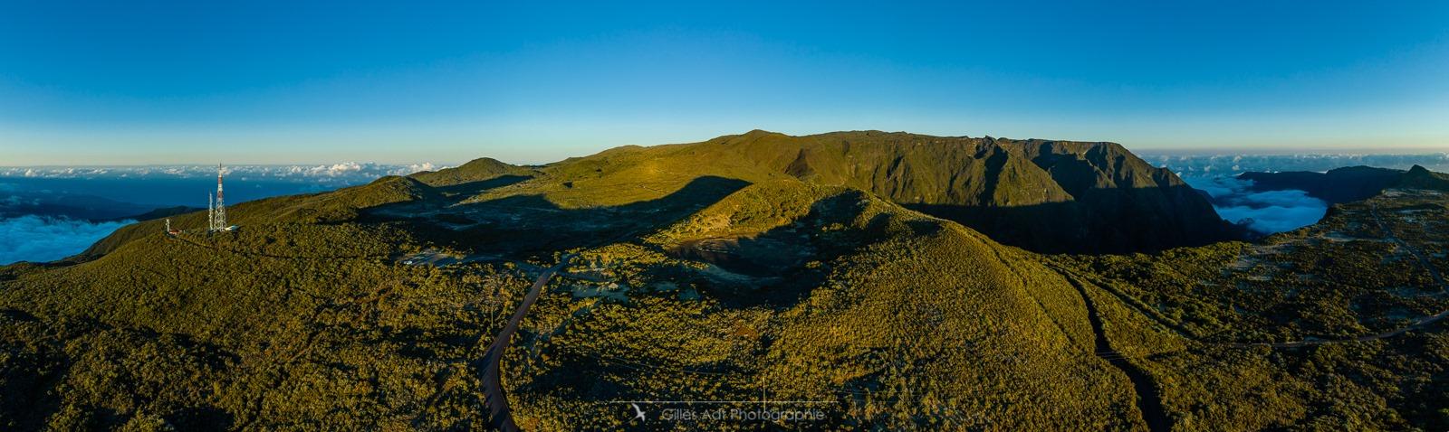 Île de la Réunion en drone