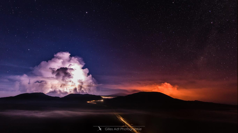 L'orage et l'éruption